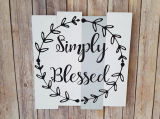 Pallet Wall Art Decor Accent Wall Decor Simply Blessed Amazon Signs
