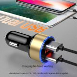 2 USB Output Car Charger 2.4A Max (Real) Fast Charge for iPhone 6s 6 Plus Se for Samsung S6 S5 S4 Mobile Phones Tablets