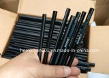 7 Inch Triangle Shape Black Wood Black Pencil with Black Eraser, Sky-052
