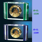Colourful Crystal Clock with Dry Battery Accept Logo