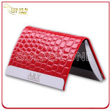 Customized Engrave Logo Leather Business Card Holder