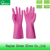 Pink PVC Cheap Houshold Gloves