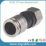 F Compression Connector for RF Coaxial Cable Rg59 RG6 Rg11 (F035)