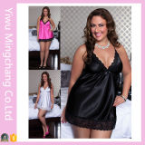 Wholesale Plus Size Strapless Polyester Nightdress