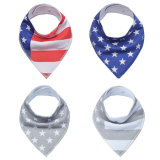 Bkd Hot Sales High Quality Triangle 100% Organic Cotton Bandana Baby Bibs