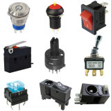 Waterproof Electronic LED Illuminated Toggle Power Switch Tact Micro Rocker Push Button Switch for Auto Parts