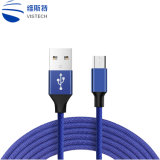 1m/3FT Fast Charger Braided Type C Lightning 8pin USB Cable for Smart Phone Tablet PC