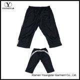 Mens Lined Polyester Exercise Joggers Knee Shorts Half Pants