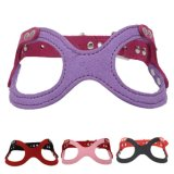 Quality Glasses Design Fashion PU Leather Dog Harness Pet Accessories
