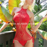 Red Hand Crochet Monokini Swimsuit One Piece Swimwear Beachwear Bikini