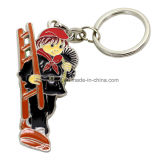 Hot Sell Custom Souvenir Metal keychain with People Inside
