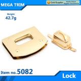 No, 50821 Novel Fashion Light Gold Turn Bag Lock