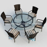 Modern Set Dining Furniture with Glass on Top