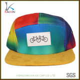 Custom Colorful Tie Dye Suede Brim 5 Panel Hat