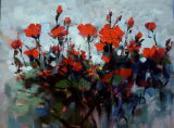 Oil Painting of Decorative Flowers-9