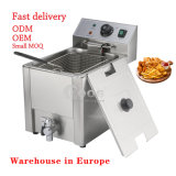 Factory Wholesale Price Stainless Steel Countertop Chicken Frying Machine 8L Single Basket Electric Commercial Potato Chips Deep Fryer for Kitchen