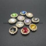 Sew on Rhinestone Glass Beads Crystal Beads for Wedding Shoes (SW-Rivoli 12mm)