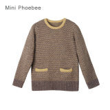 100% Wool Sweater Kids Clothes for Girls in Winter