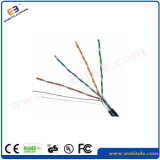 F/UTP Steel Wire Support Shielded Cat 5e Twisted Pair Network Cable
