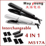 Unique Changeable 4 in 1 Plate Hair Straightener Hair Styling Hair Flat Iron