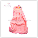 Wholesale Promotion Gift Kitchen Hanging Lovely Flannel Fabric Hand Towel