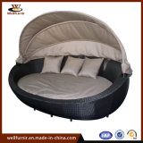 Resort Outdoor Wicker Round Daybed with Canopy Waterproof Wf050055