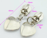 Fashion Metal Heart Shape Zipper Puller Slide Garment Accessories Hardware