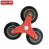 Solid Rubber/PU Foam Type Stair-Climbing Trolley Wheel with Steel Frame