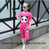 Cotton Short Sleeve Girls' Cute T-Shirt+ Pants Children Clothes