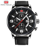 Mini Focus Chronograph Design Quartz Wrist Watch with Black Dial