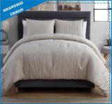 3 Piece Cream Linen-Look Polyester Comforter Bedding