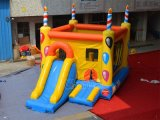 Birthday Theme Inflatable Bouncer Slide Combo (CHB526)