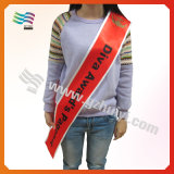 Pageant Satin Sashes with Logo Printing