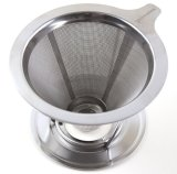 Stainless Steel Reusable Double Layer Mesh Coffee Filter with Stand