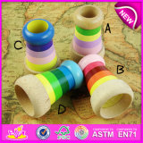 Colorful Funny Children Gifts Wooden Mini Kaleidoscope Toy, Wooden Toys for Children Magical Kaleidoscope Bee Eye Effect W01A124