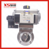 51mm SS304 Weld SMS Pneumatic Actuator Butterfly Valve with Solenoid Valve (Airtec)
