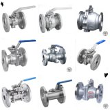 Manual Industrial Stainless Steel Flanged Ball Valve with High Mounting Pad