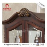 Wood Cabinet with Glass Cabinet Door (Z228)