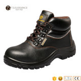 PU Injected Leather Steel Toe Work Safety Boots for Men