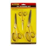 3PCS 2Cr13 Stainless Steel Office, Household, Student Scissors Set