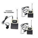 Sinbosen CF-01 UHF Professional Wireless Sound System in Ear Moniter with One Receiver Two Transmitter