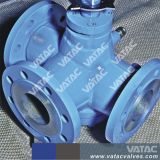 Lever Operated Stainless Steel Ss304/Ss316 Three-Way Plug Valve with RF