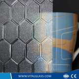 Clear Beehive Patterned Pattern Glass with CE and ISO9001