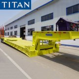 Titan 3 Axles 60/80/100/120/150 Tons Military Transport Hydraulic Front Loading Removable Detachable Gooseneck Lowbed/Lowboy Truck Semi Trailer for Sale Price