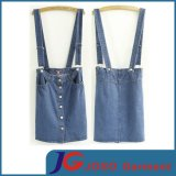 Factory Wholesale Denim Suspender Skirt (JC2047)