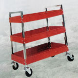 Three Layers Strong Metal Four Wheels Service Cart