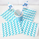 Eco-Friendly Blue Chevron Party Candy Bag