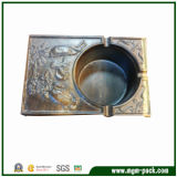 Wholesale Handmade Patterned Wood Tobacco Ashtray for Home Decoration
