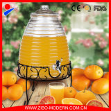 Glass Beverage Drink Dispenser Jar with Tap in High Quality
