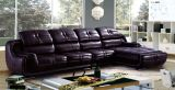 fashion Top Grain Living Room Leather Sofa with Corner A8022